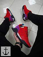 Мужские кроссовки Adidas AF красные топ реплика