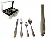 Набор столовых приборов на 6 персон (24 предмета) в алюминиевом кейсе