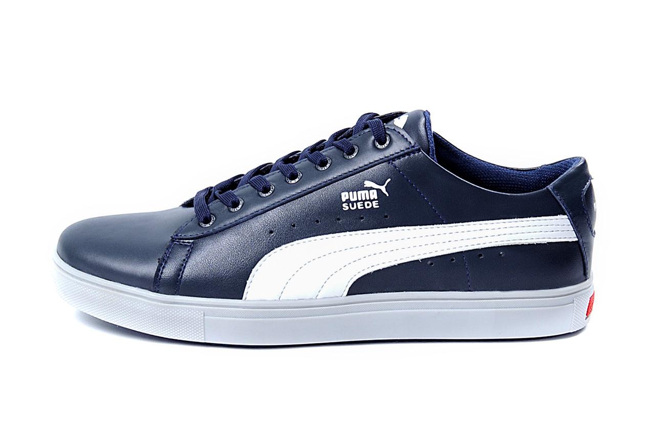 d79b50bbb8d0 Мужские кожаные кеды Puma SUEDE Blue leather 42  899 грн ...