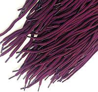 Шнурки для обуви (100см) круглые, цвет фиолетовый+коричневый (упаковка 72 пары, Ø 6мм)