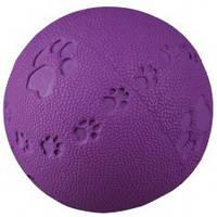 Игрушка для собак Trixie (Трикси34861) Мяч литой с лапкой и пищалкой 6см