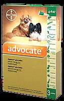Капли от блох и глистов для собак Bayer Advocat Байер Адвокат до 4 кг (1 пипетка)