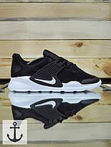 Мужские кроссовки Nike arrowz черные топ реплика, фото 3