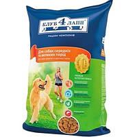Сухой корм Клуб 4 Лапы для средних и больших пород собак 12 кг