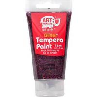 Краска темперная с блестками 75мл, красно-коричневая