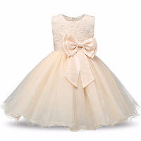 Платье нарядное кремовое