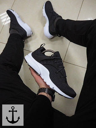Мужские кроссовки Nike Air Presto Flaynit черные топ реплика, фото 2