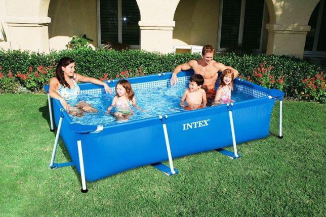 Прямоугольный бассейн каркасный Intex 28270 220х150х60 см