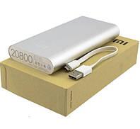Внешний аккумулятор портативная зарядка Power Bank Повер Банк XiaoMi 20800mAh металический. универсальный АКБ , фото 1