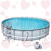 Каркасный круглый бассейн Bestway 56634 671х132 см в полной комплектации с песочным фильтром