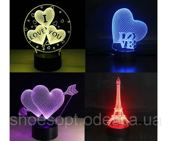 Светодиодные светильники аккумуляторные ( LED лампы, фонари, панели), лава лампы, 3D светильники