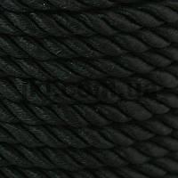Шнур канат, 5 мм, черный, заказ делайте через сайт в описание товара
