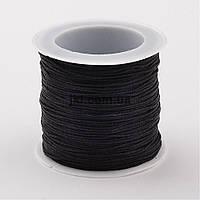 Шнур шелк, 1 мм, черный, заказ делайте через сайт в описание товара