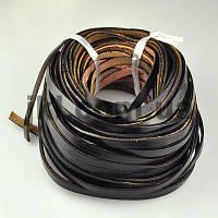Шнур кожа, 5 мм, плоский, черный, заказ делайте через сайт в описание товара