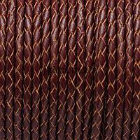 Шнур кожа, круглый, плетенный, 5 мм, коричневый, заказ делайте через сайт в описание товара