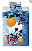 Комплект детского постельного белья Микки Маус футбол