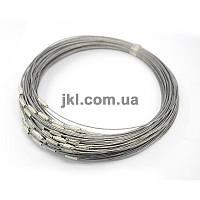 Обруч на шею, серебряный, толщина 1 мм, объем 17.5 см, замок - закрутка, заказ делайте через сайт в описание товара