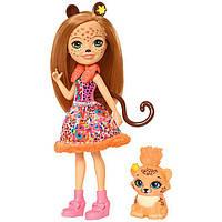 Энчантималс Рысь Чериш и рысенок Квик-Квик / Enchantimals Cherish Cheetah Doll