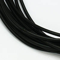 Шнур резиновый полый внутри, 3 мм, цвет черный, заказ делайте через сайт в описание товара