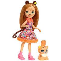 Кукла Enchantimals Энчантималс Гепард Чериш Cherish и рысенок Квик-Квик FJJ20, фото 2