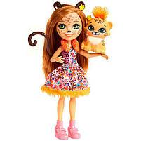 Кукла Enchantimals Энчантималс Гепард Чериш Cherish и рысенок Квик-Квик FJJ20, фото 3