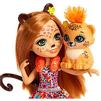 Кукла Enchantimals Энчантималс Гепард Чериш Cherish и рысенок Квик-Квик FJJ20, фото 4
