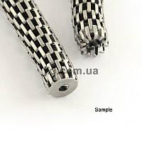 Цепь змея железная, толщина цепи 3.2 мм, металлическая, бижутерная, декоративная, на метраж, цвет платина, заказ делайте через сайт в описание товара