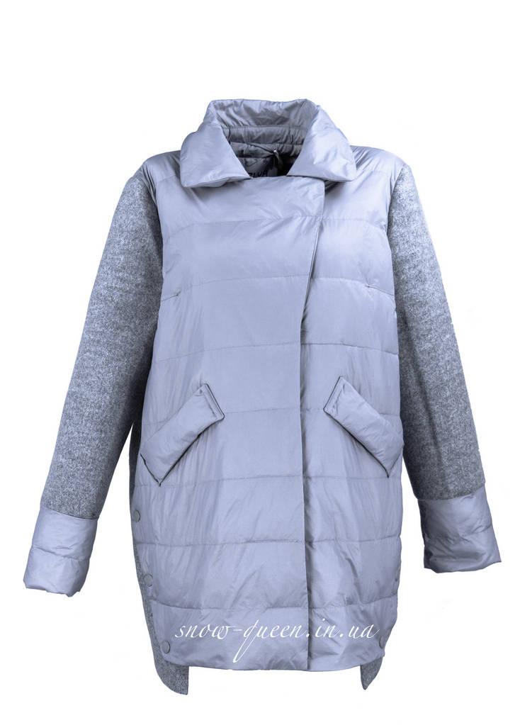 Куртка Zilanliya с текстилем батальные размеры