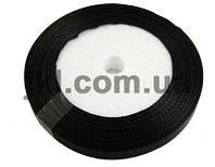 Лента атлас 1 см, цвет черный, заказ делайте через сайт в описание товара