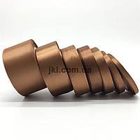 Лента атлас, 3.9 см, цвет светло-коричневый, заказ делайте через сайт в описание товара