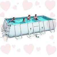 Каркасный бассейн Bestway 56466 549х274х122 см в полной комплектации с песочным фильтром
