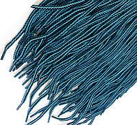 Шнурки для обуви (100см) круглые, цвет бирюза+черный(упаковка 72 пары, Ø 6мм)