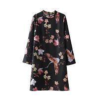 Короткое яркое платье, цветной принт, фото 1