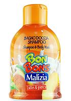 Malizia шампунь-гель «Latte & Pesca» 500 мл