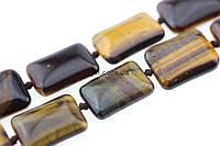 Тигровый глаз бусины 17*12 мм, ~23 шт / нить, натуральные камни, на нитке, коричневые, заказ делайте через сайт в описание товара