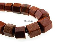 """Авантюрин """"Золотой песок"""" бусины 10-17*6-13 мм, ~43 шт / нить, натуральные камни, на нитке, коричневые, заказ делайте через сайт в описание товара"""