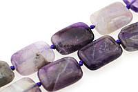 Аметист бусины 18*13 мм, ~23 шт / нить, натуральные камни, на нитке, фиолетовые, заказ делайте через сайт в описание товара