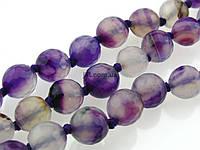Агат вены дракона бусины 8 мм, ~46 шт / нить, натуральные камни, на нитке, бледно-фиолетовый с белым, заказ делайте через сайт в описание товара
