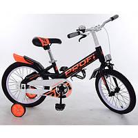 """Детский велосипед Profi Original 14"""" , черно-оранжевый"""