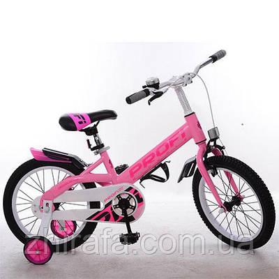 """Детский велосипед Profi Original 14"""" , розовый"""