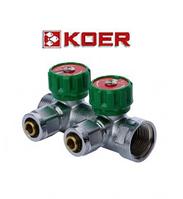 """Koer 1121-2 3/4""""x2 WAYS коллектор вентильный с фитингом"""