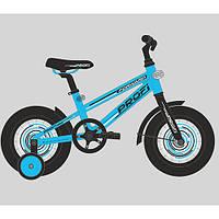 Велосипед двухколёсный детский 14 дюймов Profi Forward, голубой
