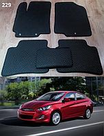 Коврики на Hyundai Accent (Solaris) '11-14. Автоковрики EVA
