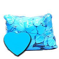Конфетти сердечки голубые. Размер: 25мм. Вес:50гр.
