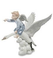 "Фарфоровая фигурка ""Ангел"" на лебеде (Pavone) JP-22/ 2"