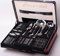 Набор столовых приборов 72 предмета в кейсе Kamille 5215B из нержавеющей стали