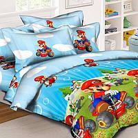 Детское постельное белье в кроватку Марио, ранфорс