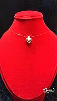 Сердце на силиконе. Золото 585 проба государственное пробирование. Вес изделия 1,01г