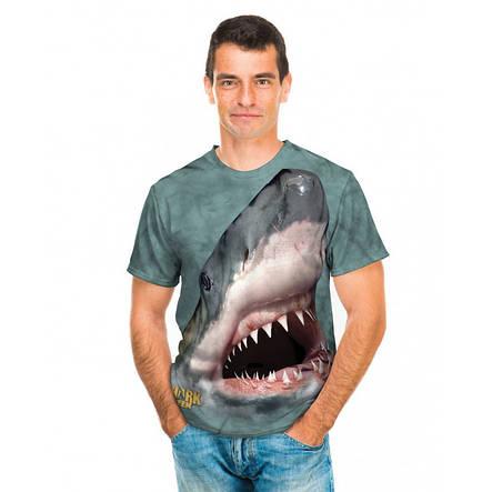 3D футболка мужская The Mountain р.S 46 RU футболки мужские с 3д рисунком (Челюсти Акулы), фото 2