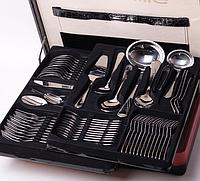 Набор столовых приборов 72 предмета в кейсе Kamille 5215А из нержавеющей стали